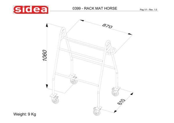 0399 Mat Horse Storage Rack