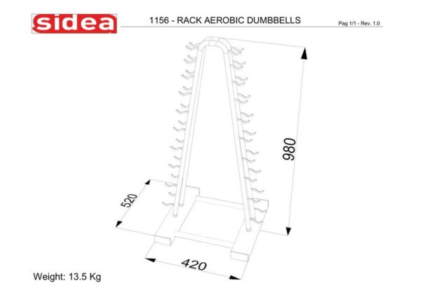 1156 - Rack Aerobic Dumbbells