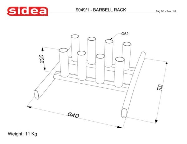 9049/1 Barbell Rack
