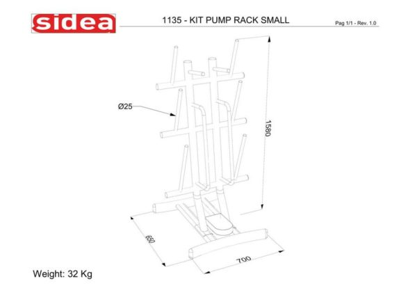 1135 -rack-kit-power-pump